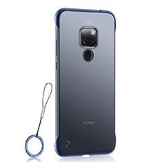 Custodia Ultra Sottile Trasparente Rigida Cover Opaca U03 per Huawei Mate 20 Blu