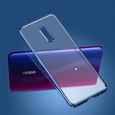 Custodia Ultra Sottile Trasparente Rigida Cover per Oppo Realme X Blu