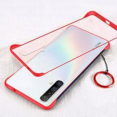 Custodia Ultra Sottile Trasparente Rigida Cover per Realme X50m 5G Rosso