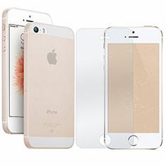 Custodia Ultra Sottile Trasparente Rigida Opaca con Pellicola Protettiva per Apple iPhone SE Chiaro