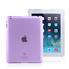 Custodia Ultra Sottile Trasparente Rigida Opaca per Apple iPad 2 Viola
