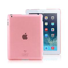 Custodia Ultra Sottile Trasparente Rigida Opaca per Apple iPad 3 Rosa