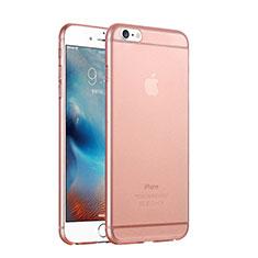Custodia Ultra Sottile Trasparente Rigida Opaca per Apple iPhone 6 Oro Rosa