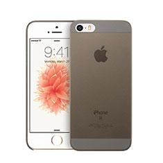 Custodia Ultra Sottile Trasparente Rigida Opaca per Apple iPhone SE Grigio