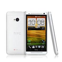 Custodia Ultra Sottile Trasparente Rigida Opaca per HTC One M7 Bianco