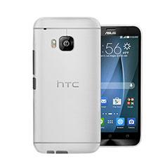 Custodia Ultra Sottile Trasparente Rigida Opaca per HTC One M9 Bianco