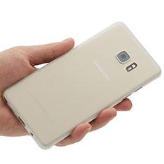 Custodia Ultra Sottile Trasparente Rigida Opaca per Samsung Galaxy Note 7 Bianco