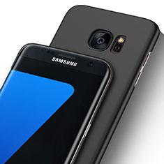 Custodia Ultra Sottile Trasparente Rigida Opaca per Samsung Galaxy S7 Edge G935F Nero