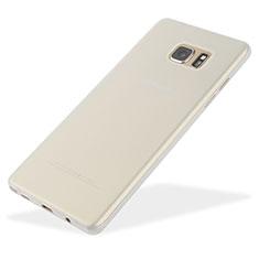 Custodia Ultra Sottile Trasparente Rigida Opaca T01 per Samsung Galaxy Note 7 Bianco