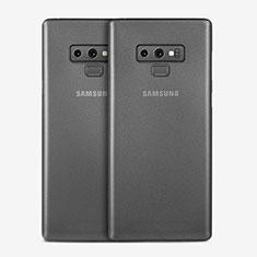 Custodia Ultra Sottile Trasparente Rigida Opaca T01 per Samsung Galaxy Note 9 Grigio