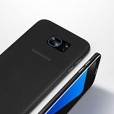 Custodia Ultra Sottile Trasparente Rigida Opaca T01 per Samsung Galaxy S7 Edge G935F Nero