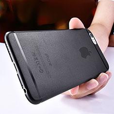 Custodia Ultra Sottile Trasparente Rigida Opaca T06 per Apple iPhone 6S Nero