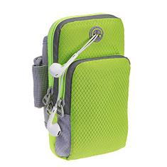 Fascia da Braccio Cover Armband Corsa Sportiva Diamante Universale per LG G Flex 2 Verde