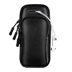 Fascia da Braccio Custodia Armband Corsa Sportiva Universale A01 per Xiaomi Mi 9 Pro 5G Nero