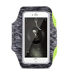 Fascia da Braccio Custodia Armband Corsa Sportiva Universale B03 per Huawei Mate 30 Pro 5G Grigio