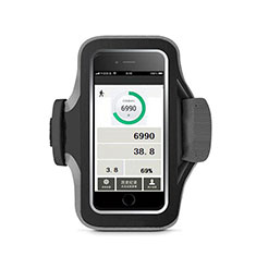 Fascia da Braccio Custodia Armband Corsa Sportiva Universale B06 per Xiaomi Mi 9 Pro Nero