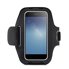 Fascia da Braccio Custodia Armband Corsa Sportiva Universale B08 per Huawei Mate 30 Pro 5G Nero