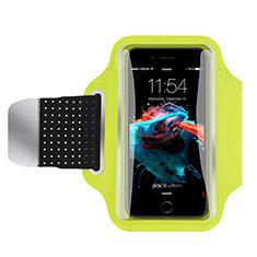 Fascia da Braccio Custodia Armband Corsa Sportiva Universale B35 per Samsung Galaxy Note Edge SM-N915F Verde