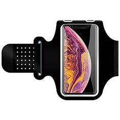 Fascia da Braccio Custodia Armband Corsa Sportiva Universale G01 per Samsung Galaxy S4 IV Advance i9500 Nero