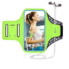 Fascia da Braccio Custodia Armband Corsa Sportiva Universale G02 per Samsung Galaxy S30 Ultra 5G Verde