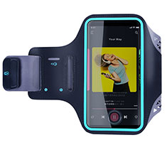 Fascia da Braccio Custodia Armband Corsa Sportiva Universale G03 per Samsung Galaxy S8 Plus Nero