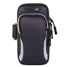 Fascia da Braccio Custodia Armband Corsa Sportiva Universale L01 per Xiaomi Redmi Y1 Grigio