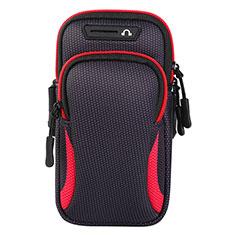 Fascia da Braccio Custodia Armband Corsa Sportiva Universale L01 per Xiaomi Redmi Y1 Rosso