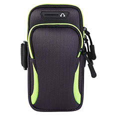 Fascia da Braccio Custodia Armband Corsa Sportiva Universale L01 per Xiaomi Redmi Y1 Verde