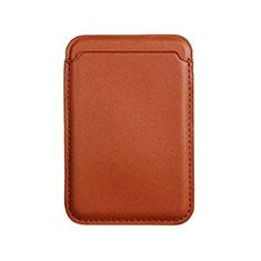Lusso Pelle Portafoglio con Mag-Safe Magnetic per Apple iPhone 12 Pro Marrone