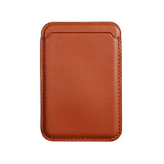 Lusso Pelle Portafoglio con Mag-Safe Magnetic per Apple iPhone 12 Pro Max Marrone