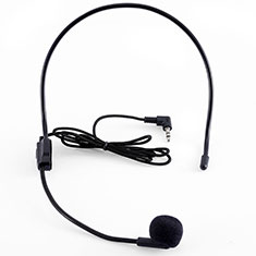 Microfono Mini Stereo Karaoke 3.5mm K03 per Huawei Honor U8860 Nero