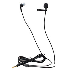 Microfono Mini Stereo Karaoke 3.5mm K05 per Blackberry Q10 Nero