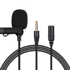Microfono Mini Stereo Karaoke 3.5mm K06 per Apple iPad Pro 11 2020 Nero