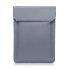Morbido Pelle Custodia Marsupio Tasca L01 per Huawei Honor MagicBook 15 Grigio