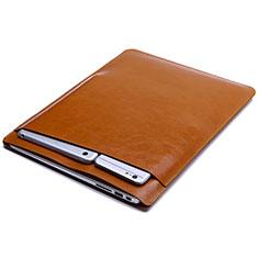 Morbido Pelle Custodia Marsupio Tasca L01 per Huawei Matebook D14 (2020) Arancione