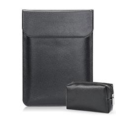 Morbido Pelle Custodia Marsupio Tasca L02 per Samsung Galaxy Book Flex 13.3 NP930QCG Nero