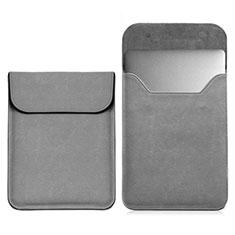 Morbido Pelle Custodia Marsupio Tasca L03 per Samsung Galaxy Book Flex 13.3 NP930QCG Grigio