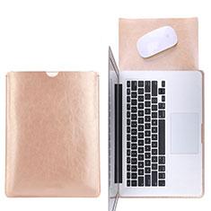 Morbido Pelle Custodia Marsupio Tasca L17 per Apple MacBook Pro 15 pollici Retina Oro