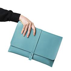 Morbido Pelle Custodia Marsupio Tasca L18 per Apple MacBook Air 13.3 pollici (2018) Cielo Blu
