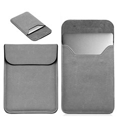 Morbido Pelle Custodia Marsupio Tasca L19 per Apple MacBook 12 pollici Grigio