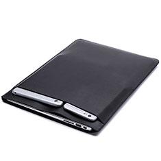 Morbido Pelle Custodia Marsupio Tasca L20 per Apple MacBook Pro 15 pollici Retina Nero