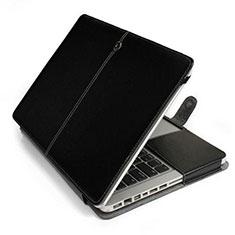Morbido Pelle Custodia Marsupio Tasca L24 per Apple MacBook Pro 15 pollici Retina Nero