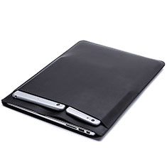 Morbido Pelle Custodia Marsupio Tasca per Huawei Honor MagicBook 15 Nero
