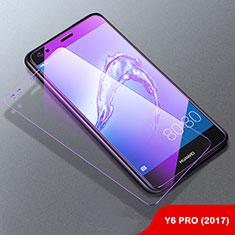 Pellicola in Vetro Temperato Protettiva Anti Blu-Ray Proteggi Schermo Film B01 per Huawei Y6 Pro (2017) Chiaro