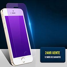 Pellicola in Vetro Temperato Protettiva Anti Blu-Ray Proteggi Schermo Film L01 per Apple iPhone 5 Chiaro