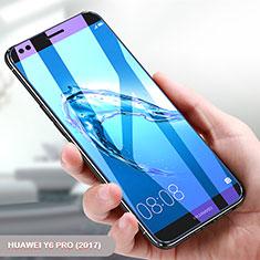 Pellicola in Vetro Temperato Protettiva Anti Blu-Ray Proteggi Schermo Film per Huawei Y6 Pro (2017) Chiaro
