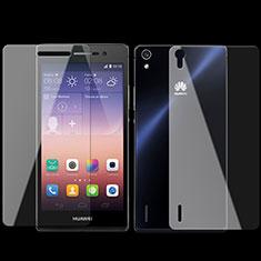 Pellicola in Vetro Temperato Protettiva Fronte e Retro Proteggi Schermo Film per Huawei P7 Dual SIM Chiaro