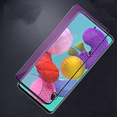 Pellicola in Vetro Temperato Protettiva Integrale Anti Blu-Ray Proteggi Schermo Film per Samsung Galaxy A51 5G Nero