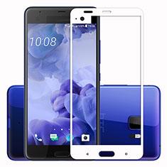 Pellicola in Vetro Temperato Protettiva Integrale Proteggi Schermo Film F02 per HTC U Ultra Bianco