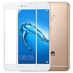 Pellicola in Vetro Temperato Protettiva Integrale Proteggi Schermo Film F02 per Huawei Enjoy 7 Plus Bianco